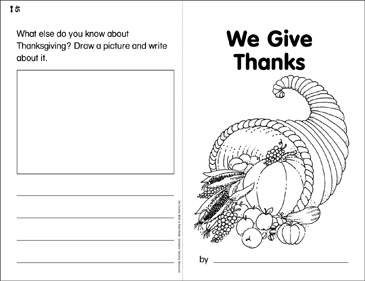 We Give Thanks: Our Country Write & Read Book - Printable Worksheet