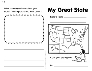 My Great State: Our Country Write & Read Book - Printable Worksheet
