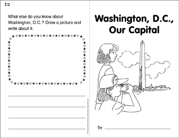 Washington, DC, Our Capital: Write & Read Book - Printable Worksheet