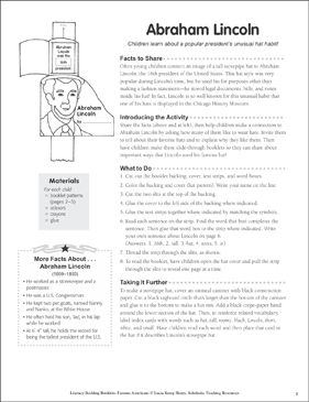 Abraham Lincoln: Literacy-Building Booklet - Printable Worksheet