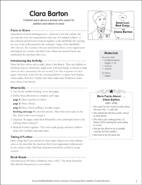 Clara Barton: Literacy-Building Booklet - Printable Worksheet
