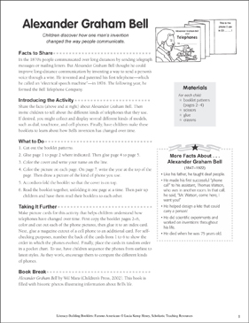 Alexander Graham Bell: Literacy-Building Booklet - Printable Worksheet