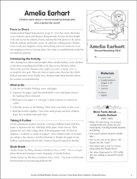 Amelia Earhart: Literacy-Building Booklet - Printable Worksheet