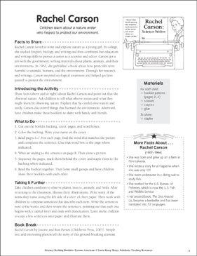 Rachel Carson: Literacy-Building Booklet - Printable Worksheet