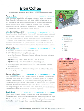 Ellen Ochoa: Literacy-Building Booklet - Printable Worksheet