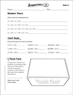 Independent Practice: Grade 6 Math Jumpstart 8 - Printable Worksheet