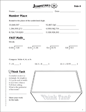Independent Practice: Grade 6 Math Jumpstart 14 - Printable Worksheet