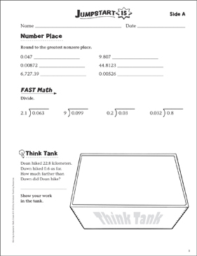 Independent Practice: Grade 6 Math Jumpstart 15 - Printable Worksheet