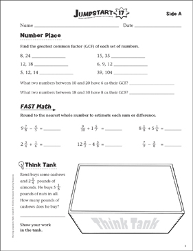 Independent Practice: Grade 6 Math Jumpstart 17 - Printable Worksheet