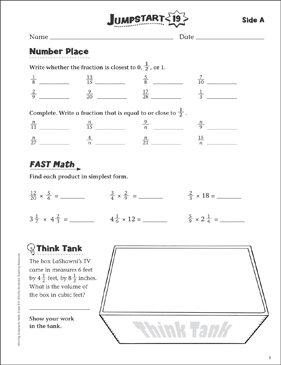 Independent Practice: Grade 6 Math Jumpstart 19 - Printable Worksheet