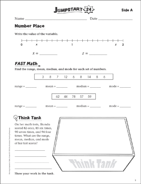 Independent Practice: Grade 6 Math Jumpstart 24 - Printable Worksheet