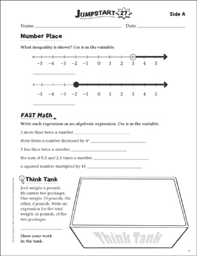 Independent Practice: Grade 6 Math Jumpstart 27 - Printable Worksheet