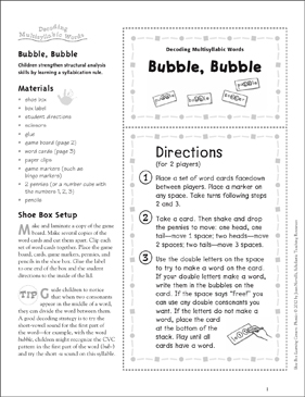 photograph about Bubble Sheets Printable known as Bubble, Bubble: Phonics Understanding Heart Printable Finding out