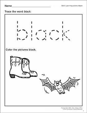 Declarative image regarding printable colors