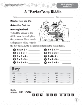 A Barberous Riddle - Printable Worksheet