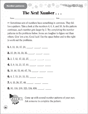 The Next Number... - Printable Worksheet