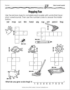 Hopping Fun (Short Vowel Sounds