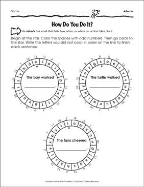 How Do You Do It? (Adverbs) - Printable Worksheet