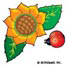 Sunflower and Ladybug: Mini-Sticker - Image Clip Art