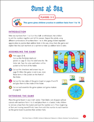 File-Folder Game - Addition: Sums at Sea (mixed addition facts to 18) - Printable Worksheet