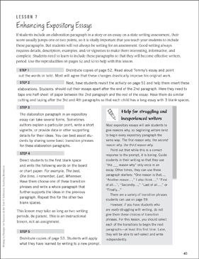 Enhancing Expository Essays: Writing to Prompts - Printable Worksheet