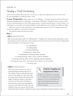 Develop a Vivid Vocabulary: Writing to Prompts for Success on the Test - Printable Worksheet