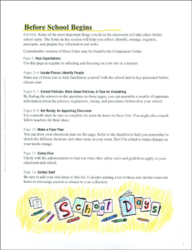 Before School Begins: Essential Forms for Teachers - Printable Worksheet