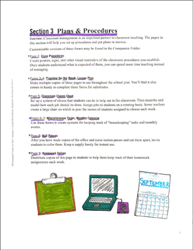 Plans & Procedures: Essential Forms for Teachers - Printable Worksheet
