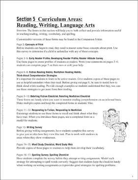 Reading/Writing/Language Arts: Forms for Teachers - Printable Worksheet
