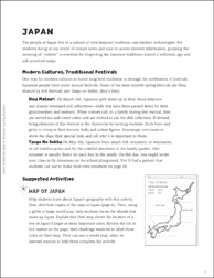 Japanese Culture and Customs | Printable Lesson Plans, Ideas ...