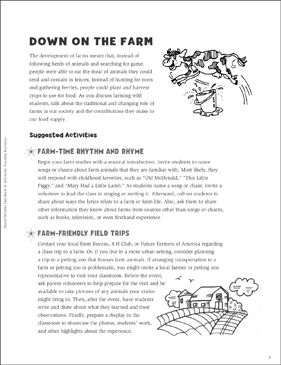 Down on the Farm Games, Puzzles, and More - Printable Worksheet
