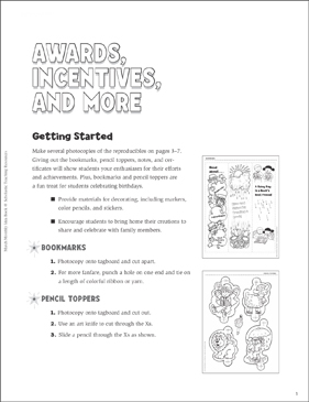 March Awards, Incentives, and More - Printable Worksheet