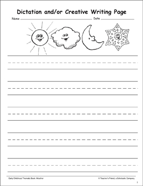 Weather Creative Writing Page - Printable Worksheet
