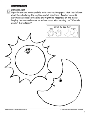 Day and Night - Printable Worksheet