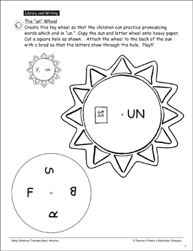 "The ""un"" Wheel - Printable Worksheet"