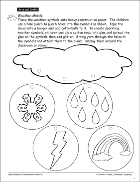 Weather Mobile - Printable Worksheet
