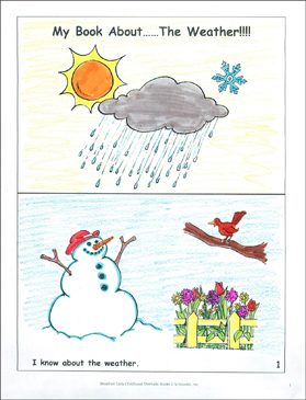 My Book About...The Weather! - Printable Worksheet
