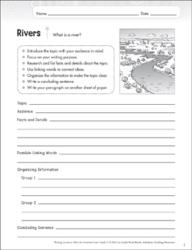 Rivers: Informative Writing Lesson - Printable Worksheet