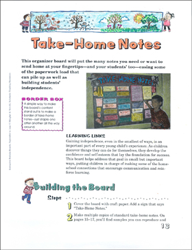 Interactive Bulletin Board Take-Home Notes - Printable Worksheet