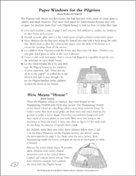 Pilgrim and Wampanoag Homes: Thanksgiving Activities - Printable Worksheet