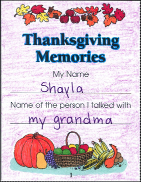 Thanksgiving Memories - Printable Worksheet