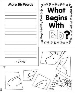What Begins With Bb? - Printable Worksheet