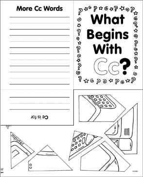 What Begins With Cc? Mini-Book - Printable Worksheet