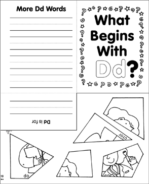 What Begins With Dd? Mini-Book - Printable Worksheet