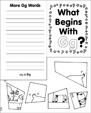 What Begins With Gg? - Printable Worksheet