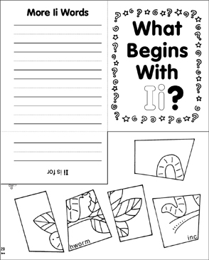 What Begins With Ii? - Printable Worksheet
