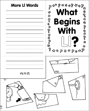 What Begins With Ll? Mini-Book - Printable Worksheet