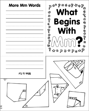 What Begins With Mm? - Printable Worksheet