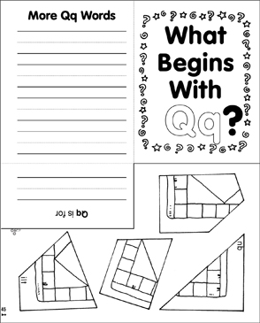 What Begins With Qq? Mini-Book - Printable Worksheet