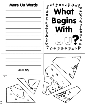 What Begins With Uu? - Printable Worksheet